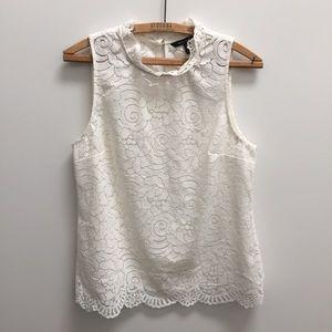 Banana Republic lace mock neck tank M shirt top